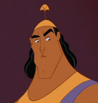 Kronk - no depth underneath those muscles.